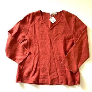 NWT Cut Loose Linen Shirt medium